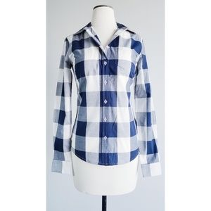 Shabby Apple Navy 'Perfectly Plaid' Button Shirt